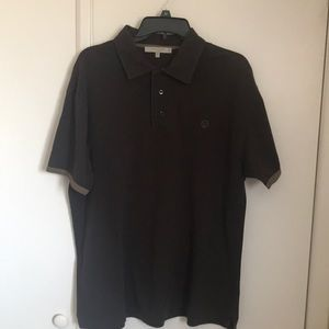 Valentino polo shirt brown Italy vintage look sz L